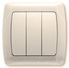 Выключатель 3-х клавишный Viko Carmen кремовый