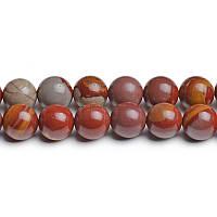 Австралийская Яшма, Натуральный камень, На нитях, бусины 8 мм, Шар, Отверстие 1 мм, кол-во: 47-48 шт/нить