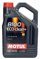 Motul 8100 ECO-CLEAN+ 5W-30 - синтетическое моторное масло - 5 л.