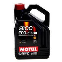 Motul 8100 ECO-CLEAN 5W-30 - синтетическое моторное масло - 5 л.