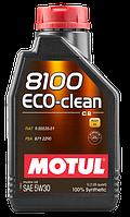 Motul 8100 ECO-CLEAN 5W-30 - синтетическое моторное масло - 1 л.