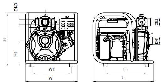 Бензиновая мотопомпа Aquatica 772513 размеры_2