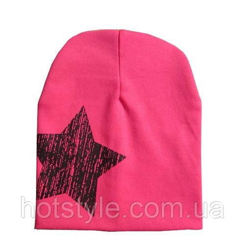 Трикотажная шапка для девочки, очень мягкая, качественная, розовая шапочка