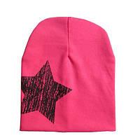 Трикотажная шапка для девочки, очень мягкая, качественная, розовая шапочка, фото 1