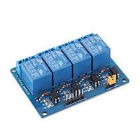 Модуль реле 4х-канальный для Arduino 5V 4-Channel Relay с опторазвязкой