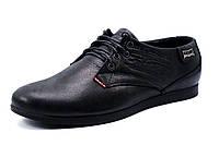Мужские туфли Levi's, натуральная кожа, черные, р. 40 42 43 44 45