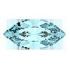 Лодочки Preciosa (Чехия) 4х2 мм Aquamarine