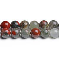 Яшма Кровавик, Натуральный камень, На нитях, бусины 8 мм, Шар, кол-во: 47-48 шт/нить