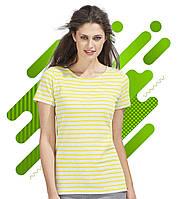 Женская футболка MILES WOMEN SOL'S, с полосками, с нанесением логотипа, 3 цвета, код  01825