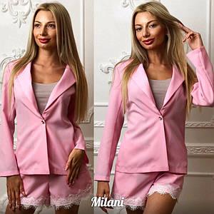 Женский летний костюм пиджак+ шорты