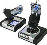 Джойстик игровой для ПК управление самолетом Logitech G Saitek X52 Flight Control System авиасимулятор штурвал