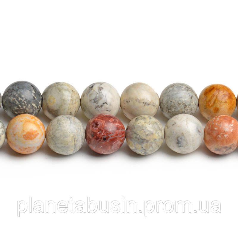 """8 мм Яшма """"Глаз Неба"""", CN217, Натуральный камень, Форма: Шар, Отверстие: 1мм, кол-во: 47-48 шт/нить"""