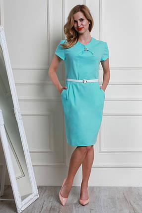 Красивое платье больших размеров из турецкого льна с ремешком, фото 2