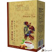Чёрный и зелёный чай English Tea Talk Masala Chai Best Brew 100г, фото 1