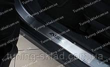 Накладки на пороги Mitsubishi ASX (накладки порогов Митсубиси ASX)