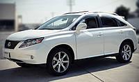 Новые Дефлекторы окон (ветровики) Lexus RX 350/ 400 09-2015 ( c хромом)