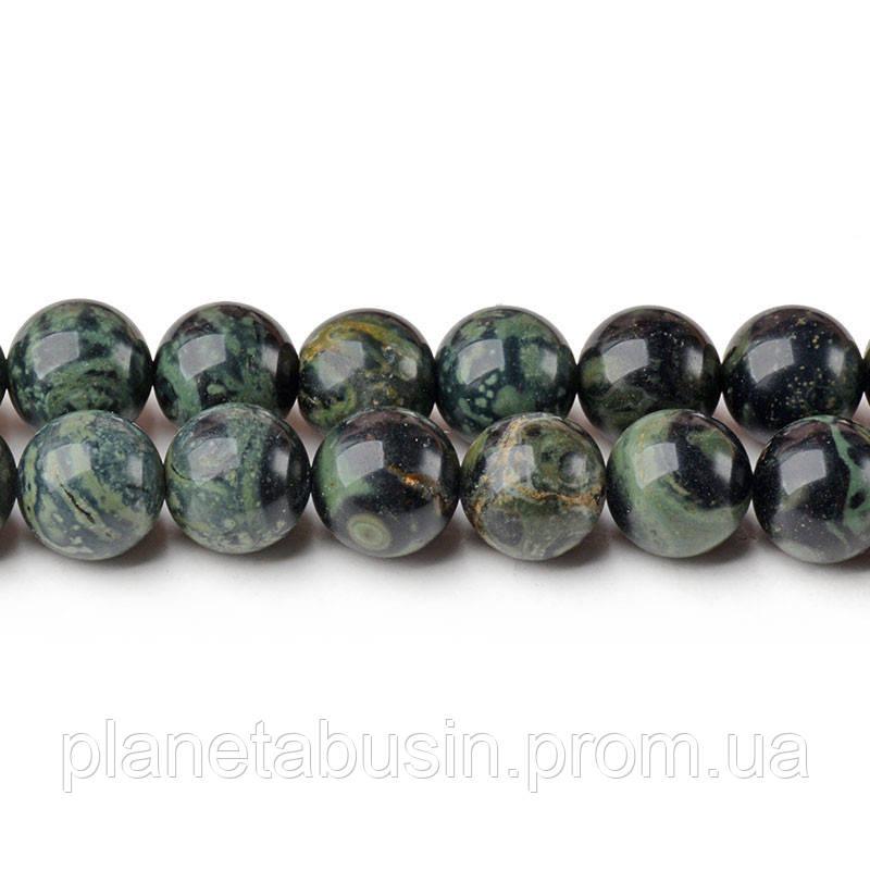 8 мм Морская Яшма, CN218, Натуральный камень, Форма: Шар, Отверстие: 1мм, кол-во: 47-48 шт/нить