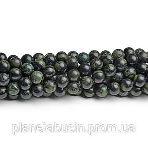 8 мм Морская Яшма, CN218, Натуральный камень, Форма: Шар, Отверстие: 1мм, кол-во: 47-48 шт/нить, фото 2