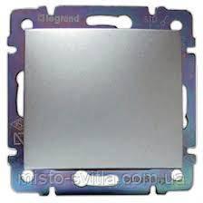 Выключатель 1-клавишный, алюминий, Legrand Valena Легранд Валена