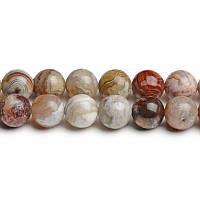 Мексиканский Агат, Натуральный камень, На нитях, бусины 8 мм, Шар, кол-во: 47-48 шт/нить