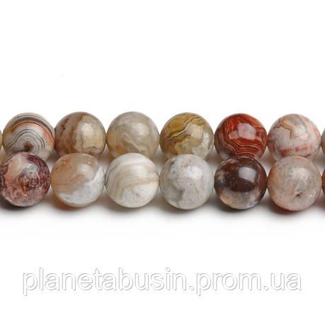 8 мм Мексиканский Агат, CN220, Натуральный камень, Форма: Шар, Отверстие: 1мм, кол-во: 47-48 шт/нить, фото 2