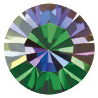 Сердце Preciosa (Чехия) 8,8x8 мм Crystal Vitrail Medium