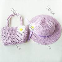 Комплект шляпка с сумочкой для девочки.