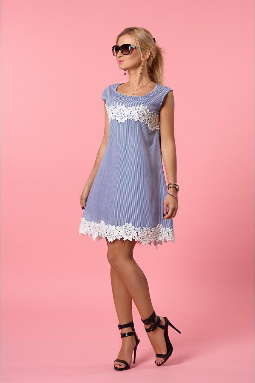 Женское летнее платье  в полосочку