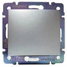 Переключатель промежуточный 1-клавишный (выключатель перекрестный), алюминий, Legrand Valena Легранд Валена