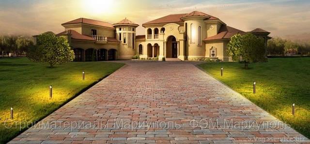 Благородный дизайн с помощью тротуарной плитки