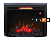 Электрокамин (очаг) Bonfire EL1615В закругленное стекло (28 диагональ)