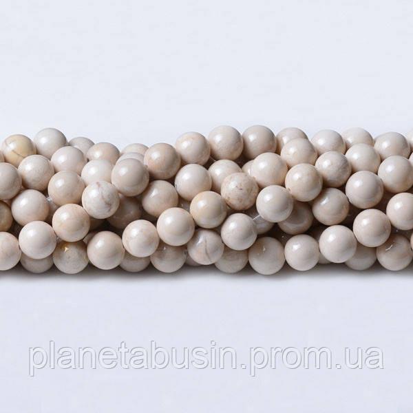 8 мм Речной Камень, CN222, Натуральный камень, Форма: Шар, Отверстие: 1мм, кол-во: 47-48 шт/нить