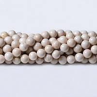 Речной камень, Натуральный камень, На нитях, бусины 8 мм, Шар, кол-во: 47-48 шт/нить
