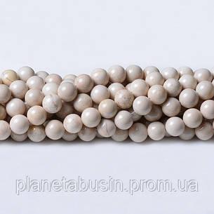 8 мм Речной Камень, CN222, Натуральный камень, Форма: Шар, Отверстие: 1мм, кол-во: 47-48 шт/нить, фото 2