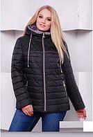 Куртка демисезонная короткая больших размеров размер 50,54,58,64 код 3110М