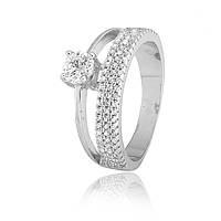 Серебряное кольцо с фианитом К2Ф/225 - 19