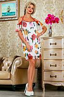 Нежное Платье Сарафан Шифон+Подкладка Белое р. 42 44 46 48