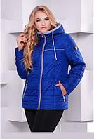 Куртка демисезонная короткая больших размеров размер 50,62 код 3116М