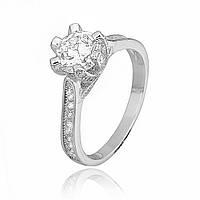 Серебряное кольцо с фианитом К2Ф/239 - 19