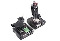 Джойстик игровой для ПК управление самолетом Logitech G Saitek X52 Pro Flight Control System авиасимулятор