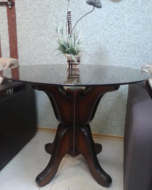 Стол стеклянный Лотос