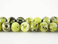 Жёлтая Бирюза, Натуральный камень, На нитях, бусины 8 мм, Шар, кол-во: 47-48 шт/нить