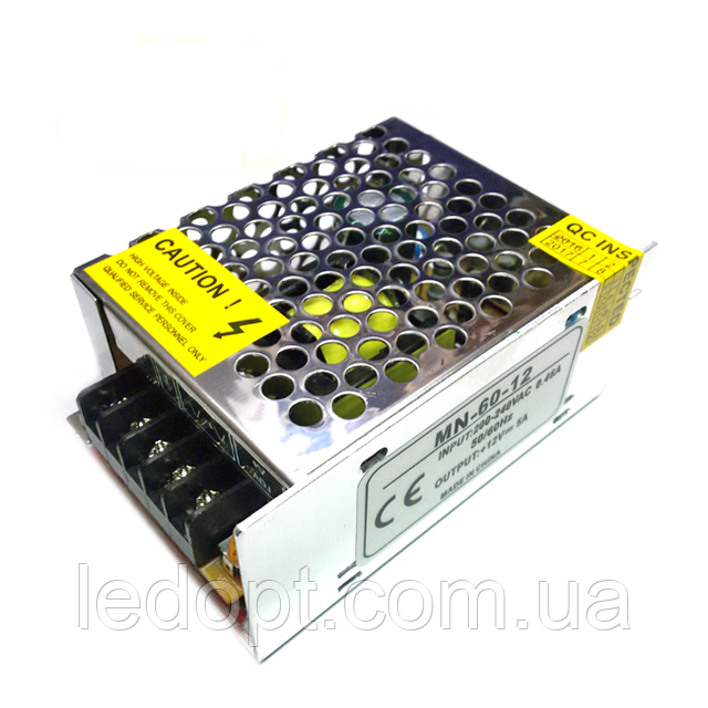 Блок питания 60W 12V для LED ленты 5A