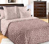 Полуторное постельное белье с простыней на резинке 90/200/25, Вирджиния, перкаль 100%хлопок