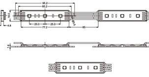 Светодиодный модуль SMD 5050 RGB IP65 3 светодиода  Код.57534, фото 2