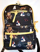 Женский рюкзак текстильный с рисунками 31*37