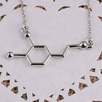 Цепочка с молекулой дофамина