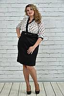 Черно-белое платье в горох 0321-2 Garry Star 0321-2
