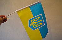 Флажки (флажок, флаг) с гербом для боковых стекол автомобиля с креплением