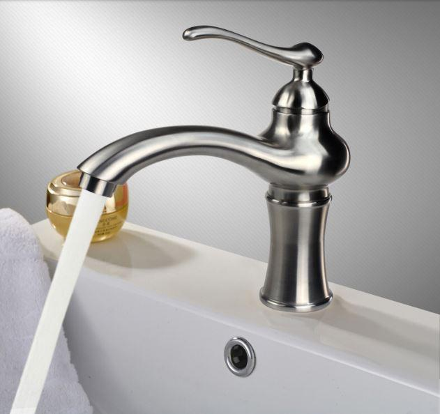 Смеситель кран однорычажный в ванную для умывальника 0382